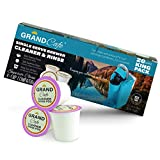 Grand Cafe - 20 Pack K-Cup Cleaner and Rinse for Keurig Single Serve Brewer Machines - 2.0 Compatible