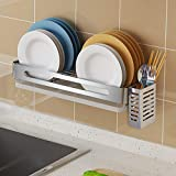 Hanging Dish Drying Rack Wall Mount Over the Sink with Utensil Holder,Junyuan...