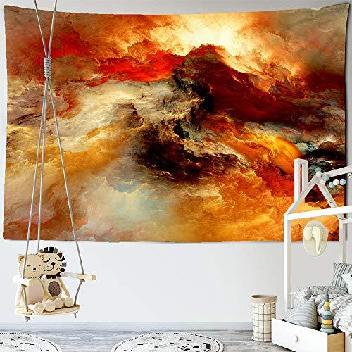 SHININGCN Tapiz estético para dormitorio, decoración de dormitorio, sol, nube de arco iris, tapiz de pared con buena suerte, bohemio, hippie psicodélico, decoración de pared