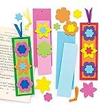 Baker Ross Kits de marcapáginas florales combinables (Paquete de 8) Manualidades de primavera para niños para poner dentro de libros.