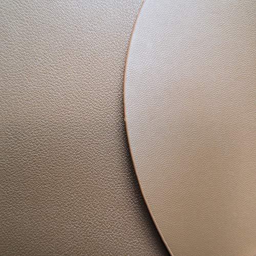 LIXUDECO Estera de Mesa Set Soft PU Cuero Vajilla Cojín de vajilla Lavable Costera Aislamiento de Calor a Prueba de Calor Aislamiento Antideslizante (Color : 10 Light Brown, Size : L 37x45cm)
