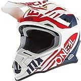 O'NEAL | Casco de Motocross | MX Enduro | Estándar de Seguridad ECE 22.05, ventilaciones para una óptima ventilación y refrigeración | Casco 2SRS Spyde 2.0 | Adultos | Azul Blanco Rojo | Talla L