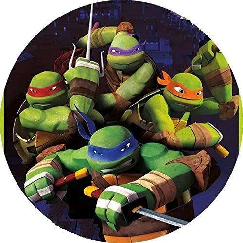 Ninja Turtles Runde Tortenaufleger 20CM - Geburtstag Tortenbild Zuckerbild Tortenplatte Oblate Kuchenzuckerplatte
