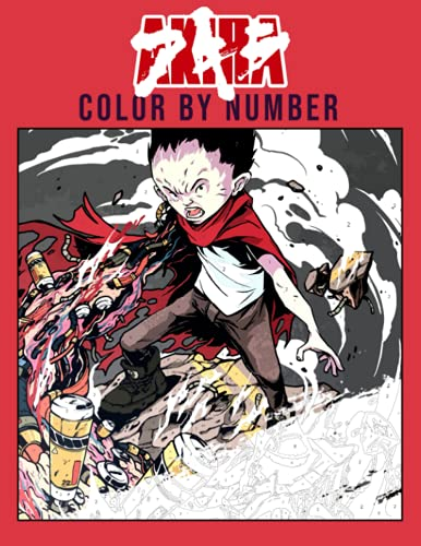Akira Color By Number: Favorite Japanese Anime Cyberpunk Illustration Color Number Book...