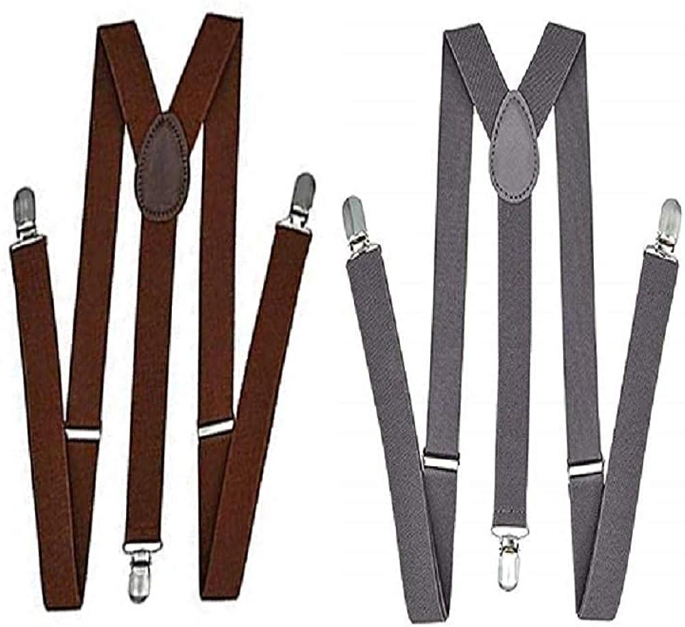 Kalagiri Gray Suspender Combo for Men and Women