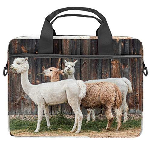 Alpaka Cottages - Vacation Mieten Wollfell 13,3 - 14,5 Zoll Laptoptasche Canvas Aktentasche Sleeve Laptop Schulter Messenger Bag Sleeve Sleeve Laptop Aktentasche