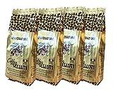Coffee Velluti - Gemahlener Kaffee 'MOKA' 4 x 250 gr. - Kaffeepulver. Italienischer Kaffee. Caffè...