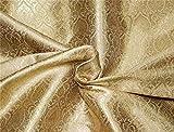 TheFabricFactory Brokatstoff Gold X Metallic God Farbe 11,2