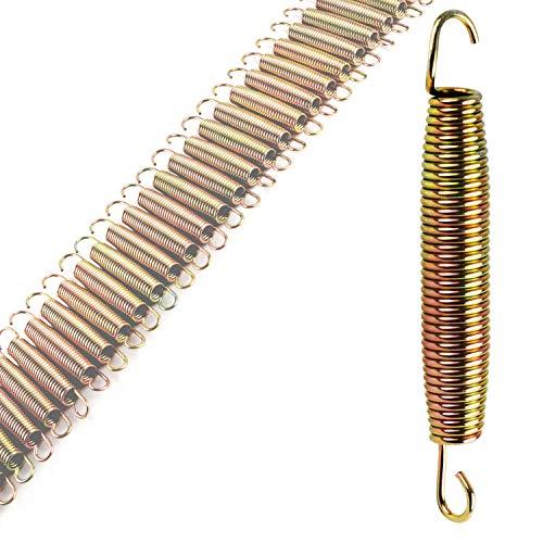 50x Trampolin Feder - 13,5 cm lang - mit 2 Haken - Federstahl Ø 1 mm - verzinkt 135 mm
