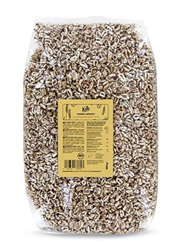 KoRo - Farro soffiato bio 400 g - farro soffiato senza zucchero da farro biologico, cereali soffiati senza additivi, ideale per muesli, barrette e biscotti, anche per cani