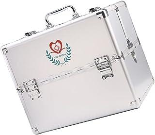BESPORTBLE First Aid Box Security Lock Medicine Storage Box Medication Prescription Storage Organizer with Portable Handle
