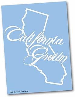 Luke Duke Decals California State Cali Grown outline vinyl car decal- 8.5