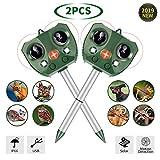 STCLIFE Repelente De Gatos,Repelente de Gato por ultrasonido Solar con sensibilidad y frecuencia Regulable,para Uso al Aire Libre,ristente al Agua,LED,Animales,Perroas,Gatos,pájaros(2PCS)