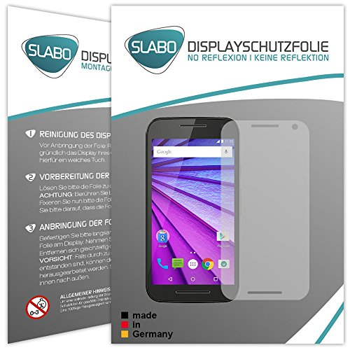 Slabo 2 x Bildschirmfolie für Motorola Moto G (3. Generation) Bildschirmschutzfolie Zubehör No Reflexion MATT
