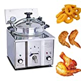 16L Electric Pressure Deep Fryer, Vinmax Commercial Countertop Pressure Fryer Cooking Machine w/Timer & Temperature Controls 50-200℃ Stainless Steel for Commercial Restaurants, Fast Food, Snack Bars