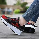 Zapatos De Patines De Ruedas Zapatos De Ruedas Para Niños Zapatos De Polea Zapatillas De Gimnasia Para Correr Zapatos De Skate Técnicos De Doble Rueda Unisex C,31