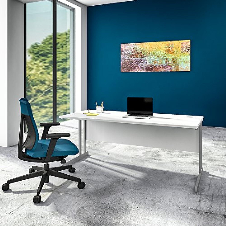 Weber Büro OPTIMA Schreibtisch Wei 180x80cm Bürotisch Arbeitstisch