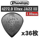 【36枚セット】Dunlop 427 2.0 Ultex Jazz III 2.00mm ウルテックス ジャズ3 ギター ピック