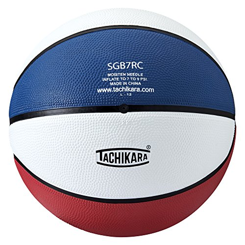 Save %14 Now! Tachikara Dual Colored Rubber Basketball (29.5) - Assorted Colors - SCARLET/WHITE/ROYA...