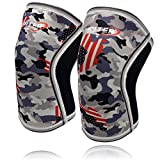 Jupiter Knee Sleeves (1 Pair), 7mm Compression Knee Braces for Squats,Weightlifting,Powerlifting,Cross Training for Men & Women (Large)