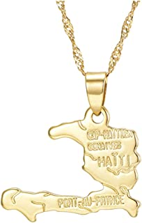 gold haiti pendant