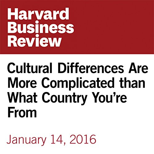 Cultural Differences Are More Complicated than What Country You're From copertina