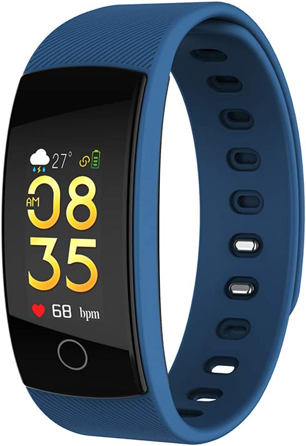 Fitness Tracker, with Heart Rate Monitor Waterproof RealTime Heart Rate Monitoring Sleep Monitor Step Counter Pedometer Call SMS Push for iOS Android Phone Myhao
