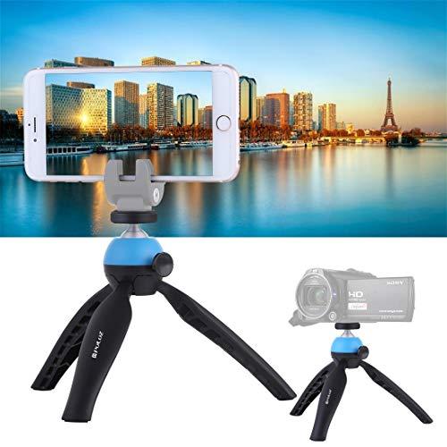 Linxiucen Nuevo Bolsillo Mini trípode con rótula de Bola de 360 Grados for teléfonos Inteligentes, GoPro, cámaras DSLR (Azul) (Color : Blue)