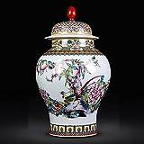 Jarrones de cerámica pintados en China clásicos, estilo de pintura de paisaje de personajes clásicos, jarrón chino antiguo, tarro de templo para la decoración y el regalo de la boda del dormitorio del