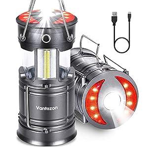"LEDランタン 高輝度 キャンプランタン usb充電式 電池式 2in1給電方法 フラッシュライト 折り畳み式 携帯型..."""