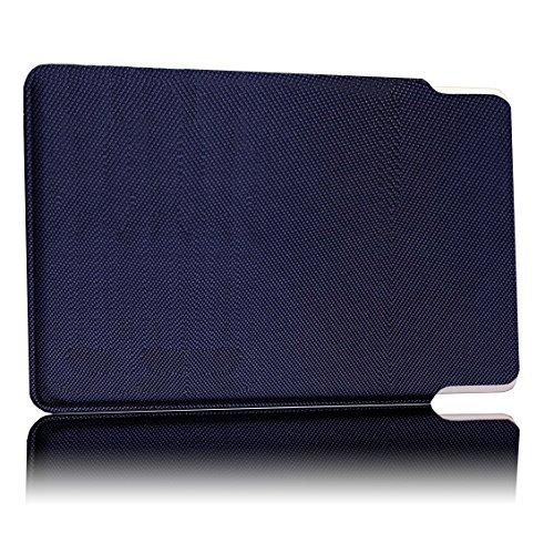TÜV geprüfte und patentierte Schutzhülle 5-Fach Kartenschutz - Quat. Ciel   RFID NFC Blocker   Magnetfeld Abschirmung   Störsender für Kreditkarte, EC Karte, Personalausweis   100% Aktiv Schutz