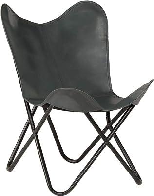 BKF Butterfly Sessel London Braun Leder: Amazon.de: Küche