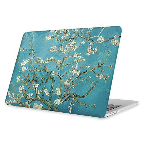 FINTIE Case for MacBook Pro 13 (2019 2018 2017 2016 Release) - Snap On Hard Shell Cover for MacBook Pro 13 Inch A2159 A1989 A1706 A1708 with/Without Touch Bar and Touch ID, Blossom