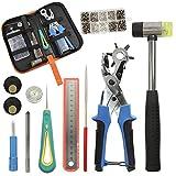 KEAYOO Revolverlochzange - Lochzange für Leder, Gürtel, Papier, Kleidung zur Dekorieren und Reparatur, 6 Größe Löcher 2mm, 2,5mm, 3mm, 3,5mm, 4mm