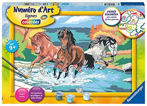 Ravensburger – Numéro d'art grand format – Horde de chevaux – loisir créatif – kit de peinture acrylique – activite détente – enfant dès 9 ans – 28682