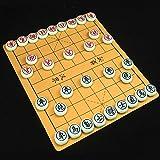 FunnyGoo 象棋 Juego de ajedrez Chino Xiangqi con Tablero de ajedrez y ajedrez de melamina de 38 mm de diámetro (ajedrez Verde)