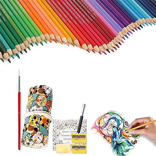 YSYDE Kleurpotloden 72 Gekleurde Kunst Set, Beste Water Oplosbare Gekleurde Potlood Sets, Canvas Potlood Houder Organizer, voor Volwassenen Kleurboek Kids Artiest Schets Schrijven Cartoon