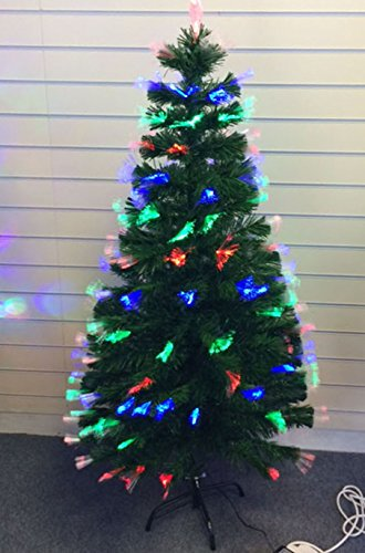 4ft 120cm LED Fibre Optic Christmas Tree Multi Colour Changing with Various Effects Xmas Decoration