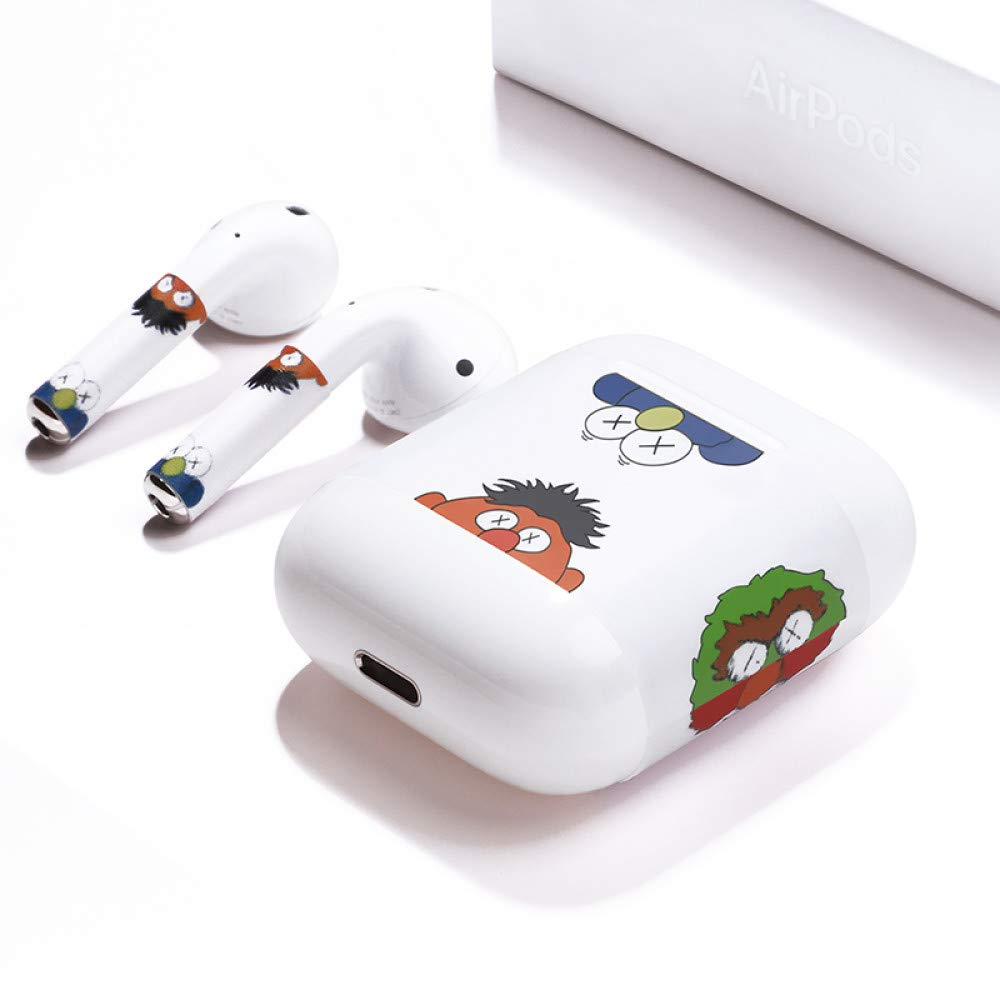 Etiquetas engomadas de Airpods 2 Hoja de ruta de Airpod Película completa de 1 generación Auriculares inalámbricos Bluetooth de Apple Todo el polvo incluido Polvo de Sesame Street: Amazon.es: Bricolaje y herramientas