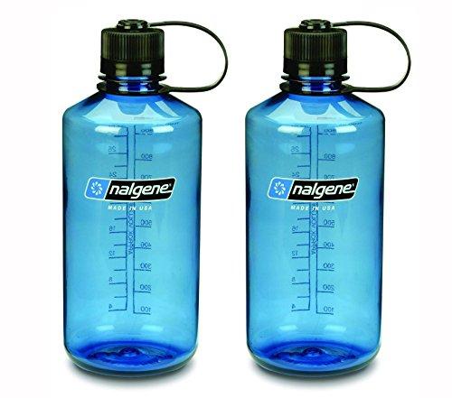 NALGENE Tritan 1-Quart Narrow Mouth BPA-Free Water Bottle (Slate Blue Set of 2)