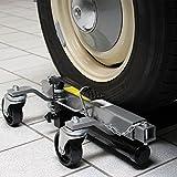 WilTec Gatos elevadores Set 2X Capacidad 680kg Cada uno Coches Ayuda a maniobras Garajes Talleres mecánicos