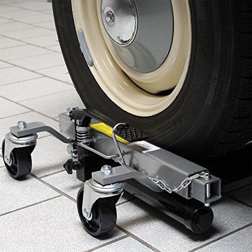 Wiltec PKW Rangierhilfe 2X Wagenheber hydraulisch je 680 KG Tragkraft bis 30 cm Reifenbreite