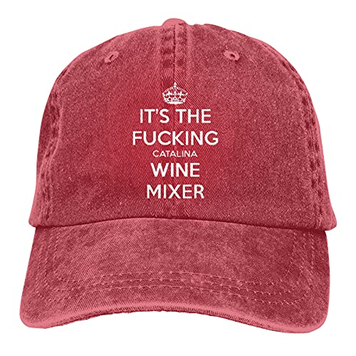 Vieoinas Bclghy Unisex Its The Fucking Catalina Wine Mixer Casquette Old Wash Old Baseball Cap Free Adjustment Cap Cowboy Hat