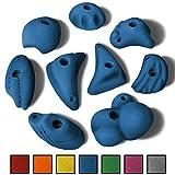 ALPIDEX 9 L/XL Klettergriffe verschieden geformte Griffe und Leisten in vielen Farben -