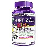 Vicks Pure Zzzs Kidz, Melatonin Sleep Aid Gummies for Kids and Children, Lavender, Valerian Root and Chamomile, Natural Berry Flavor, 72 Gummies