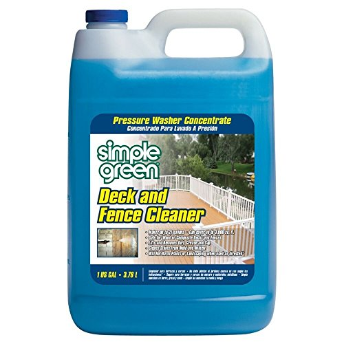 Simple Green 2310000418200 Deck/Fence Phosphate and Bleach-Free Pressure Washer Cleaner in 1 gal Bottles (Pack of 4)