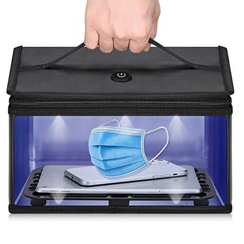 UV-Licht-Sterilisator-Box, groß, 2020 Neue UVC tragbare Desinfektionsmitteltasche – USB-Aufladung 260–280 nm Wellenlänge UVC Desinfektionstasche für Desinfektion