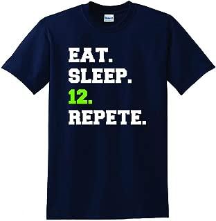 Seattle Eat Sleep 12 Repete T-shirt