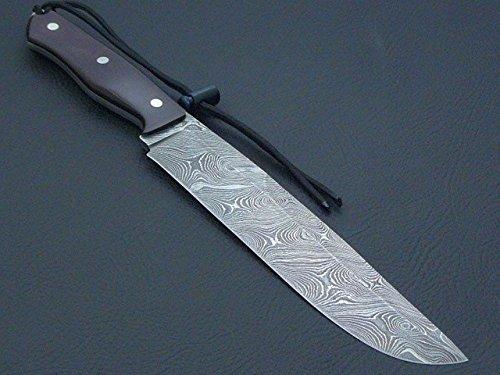 Custom Damast Bowie Messer Jagdmesser Mit Scheide