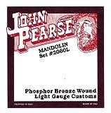John Pearse Strings® 2060L Jeu de Cordes pour Mandoline - Phospor Bronze Wound - Loop End - Light Gauge Customs